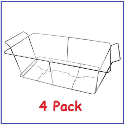 Pack Of 4 Buffet Chafer Food Warmer Wire Frame Stand