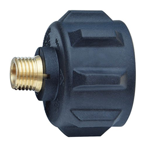 Onlyfire 5040 QCC1 ACME Nut Propane Gas Fitting Adaptor with 1/4 Inch Male Pipe Thread, Brass