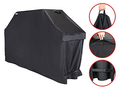 Unicook Heavy Duty Barbecue Grill Cover, 65-inch, Color Fading Resistant, Easy Lifting Handles, Helpful Air Vents