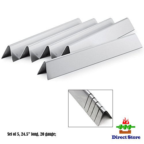 Direct store Parts DP110 Stainless Steel Flavorizer Bars /Heat plates (5-pack) Replacement Weber Stainless Steel Flavorizer Bars 7539,7540 / L 24.5″