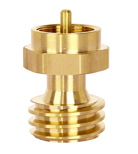 DozyAnt QCC1 Disposable Propane Cylinder Bottle Adapter- 1LB Propane Tank for Gas Grill Connector, Quality Brass,Type1