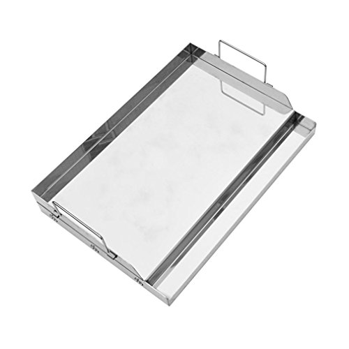 Onlyfire Universal Stainless Steel Griddle for BBQ Grills with Removable Handles Replaces SQ180